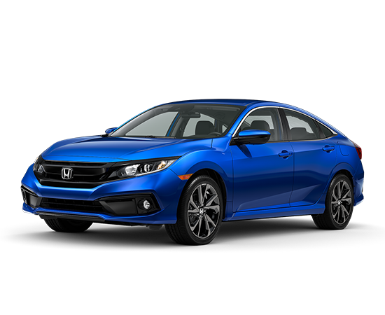 New 2021 Honda Civic Sport 4D Sedan CVT FWD