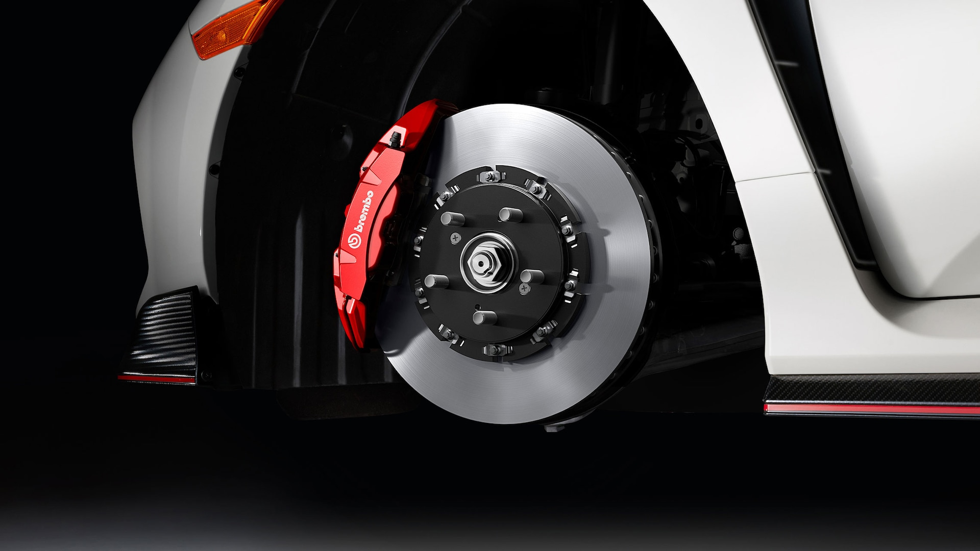 Detail of Brembo® brakes on the 2021 Honda Civic Type R.