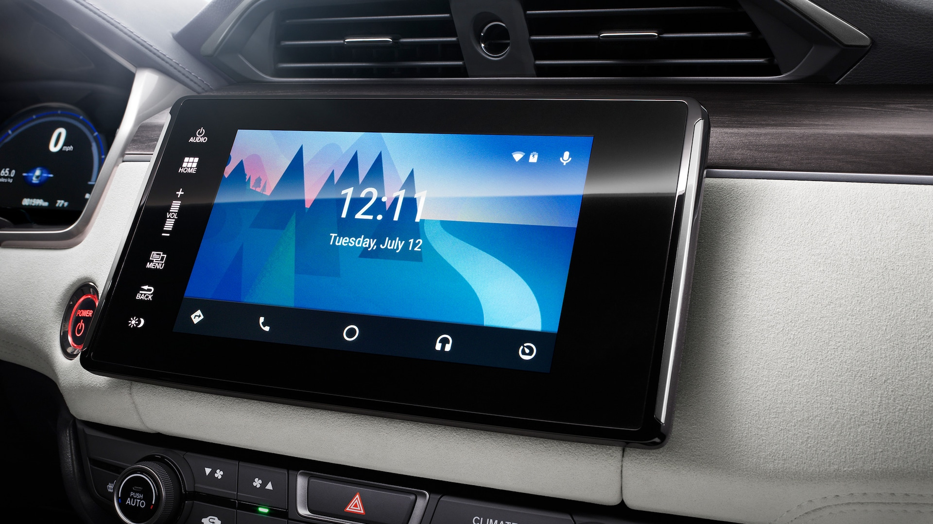 Detail of Android Auto™ Integration screen for Display Audio touch-screen on 2021 Honda Clarity Fuel Cell.