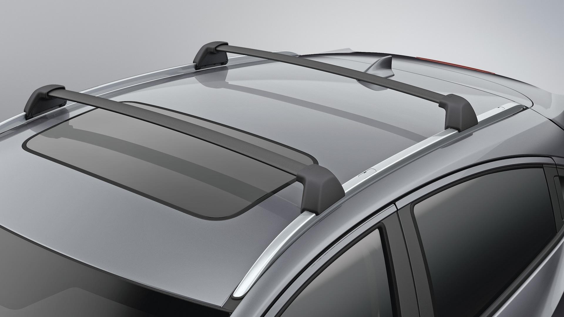 Detail view of crossbar on roof of the 2021 Honda HR-V.