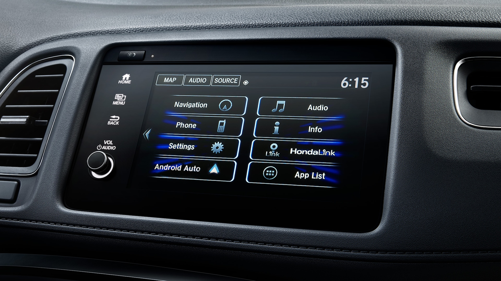 Android Auto™ detail on Display Audio touch-screen in the 2021 Honda HR-V EX-L.