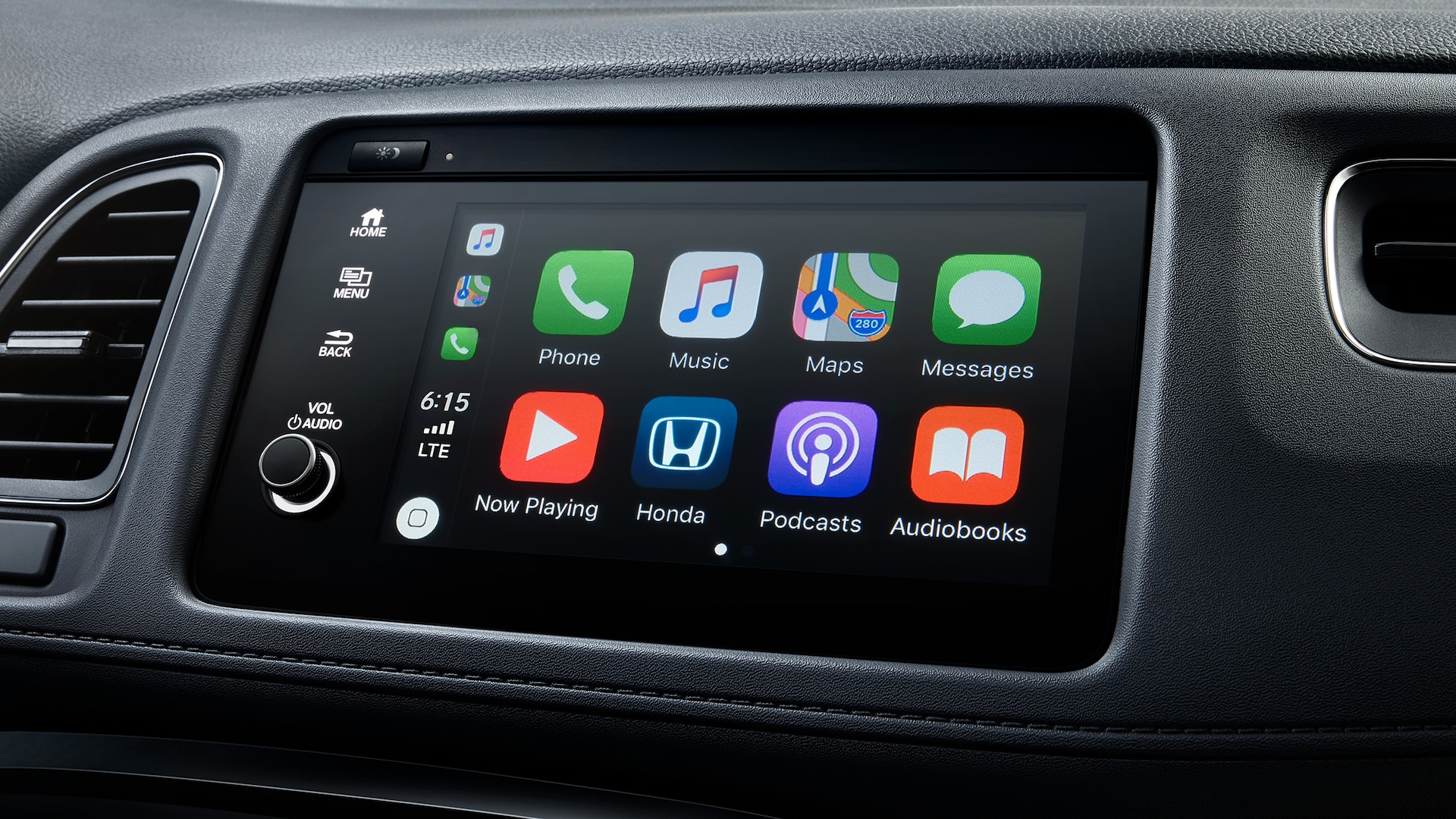 Apple CarPlay® detail on Display Audio touch-screen in the 2021 Honda HR-V EX-L.