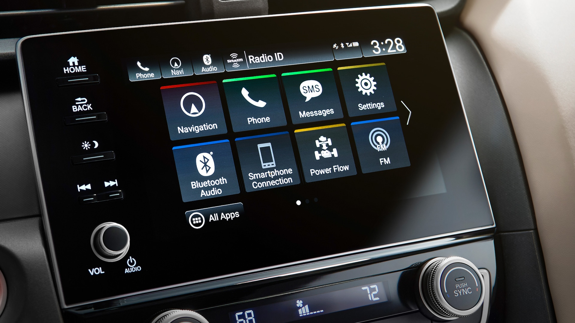 Display Audio touch-screen detail in 2021 Honda Insight.