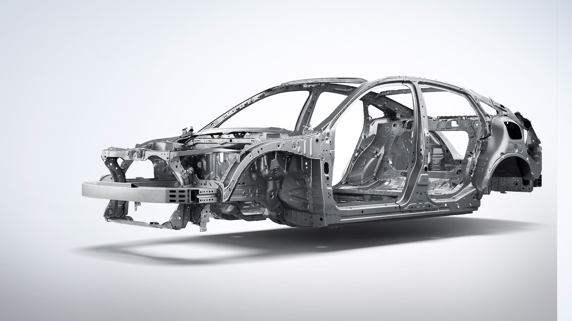 Front driver-side view of ACE™ body structure detail on 2021 Honda Insight.