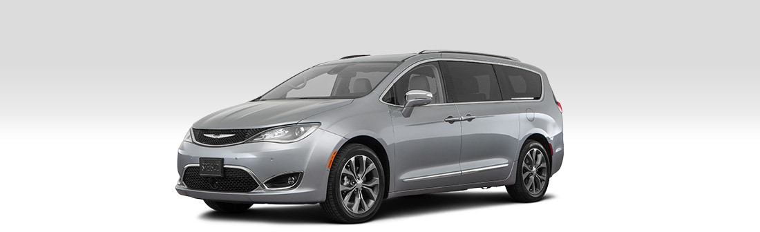 Front driver-side view of the 2020 Chrysler Pacifica Limited FWD.