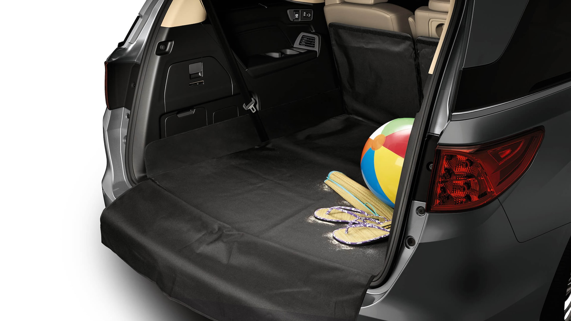 Detail of the 2022 Honda Odyssey accessory folding cargo mat.