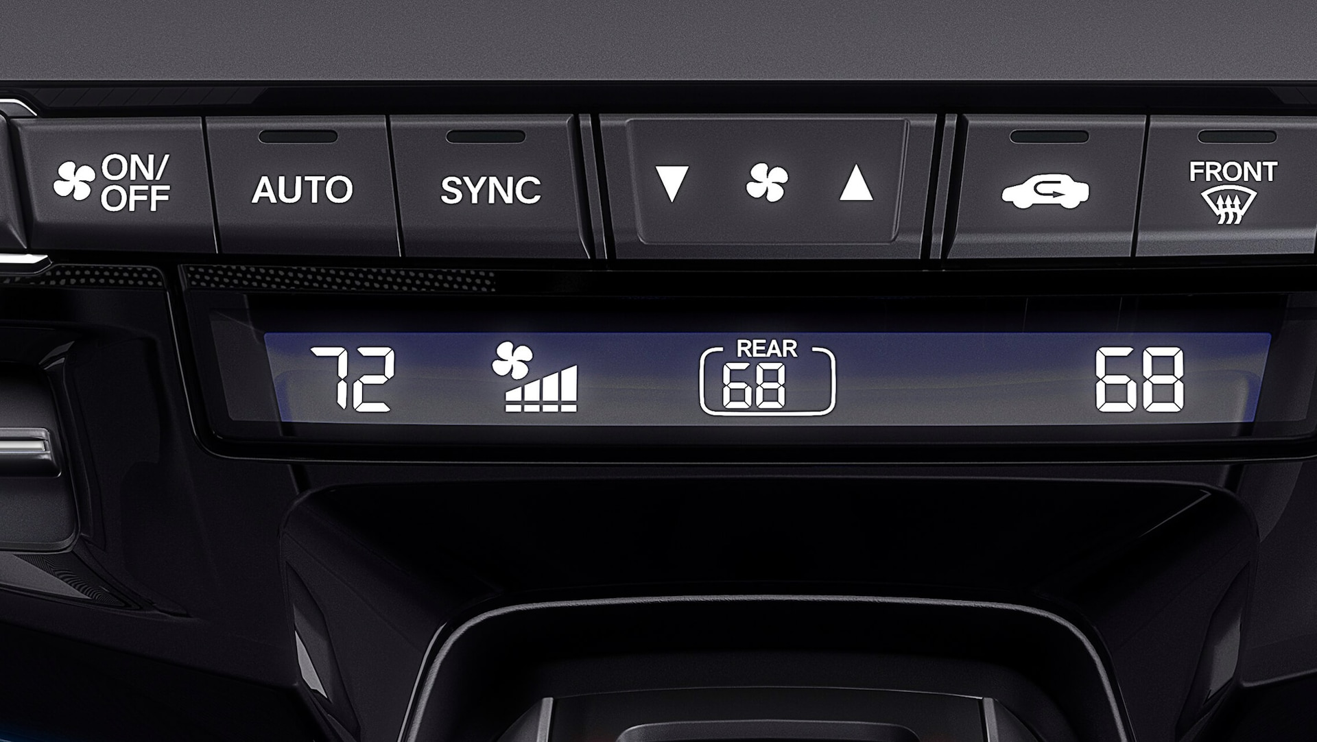 Tri-Zone Automatic Climate Control detail on the 2022 Honda Odyssey Elite.