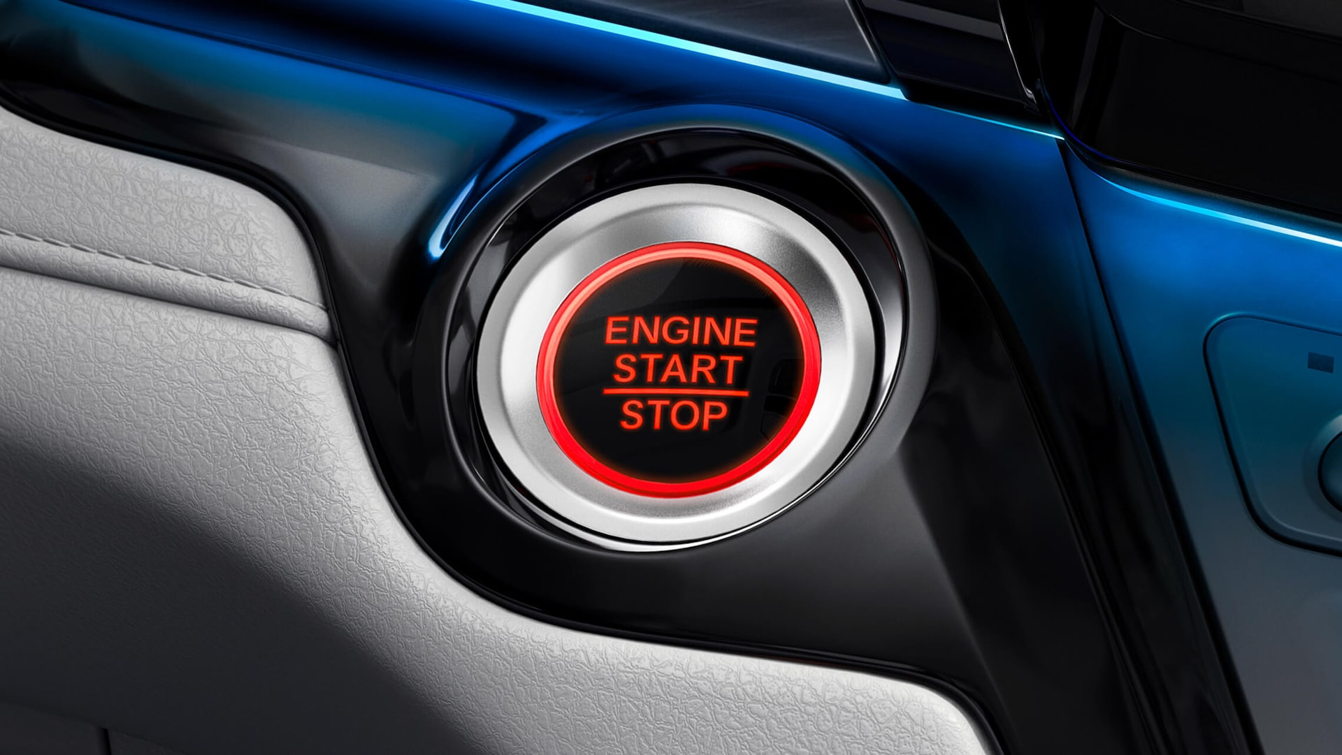 Push Button Start detail on the 2022 Honda Odyssey Elite.