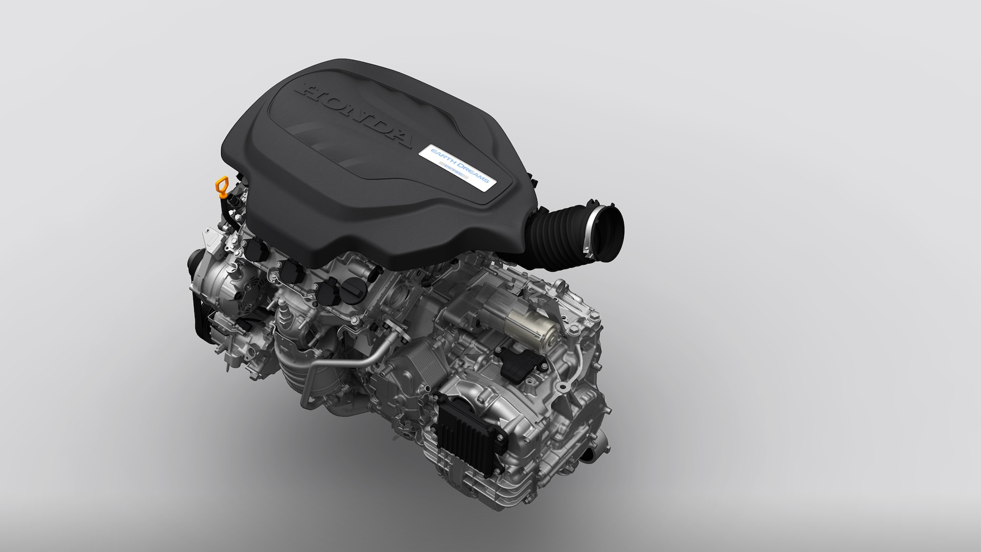 Detail view of the 2022 Honda Odyssey V-6 engine.