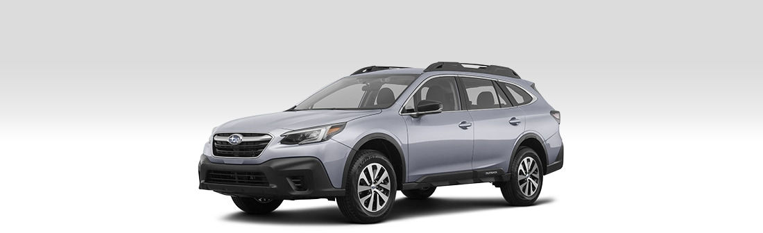 Front driver-side view of the 2020 Subaru Outback.