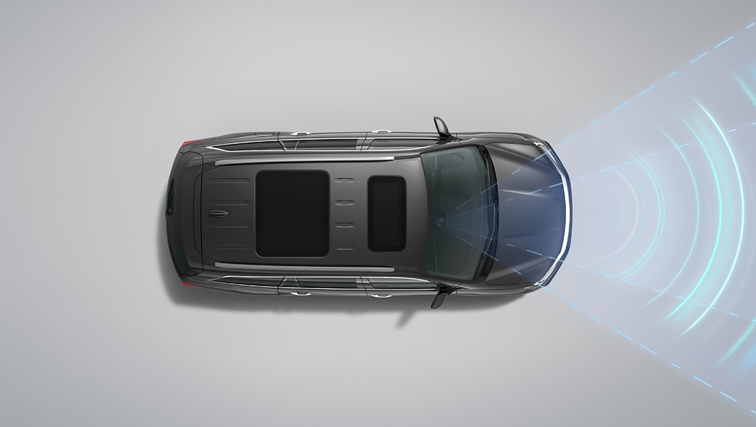 Demonstration of Honda Sensing® Lane Keeping Assist System feature. Plays video. Opens a dialog.