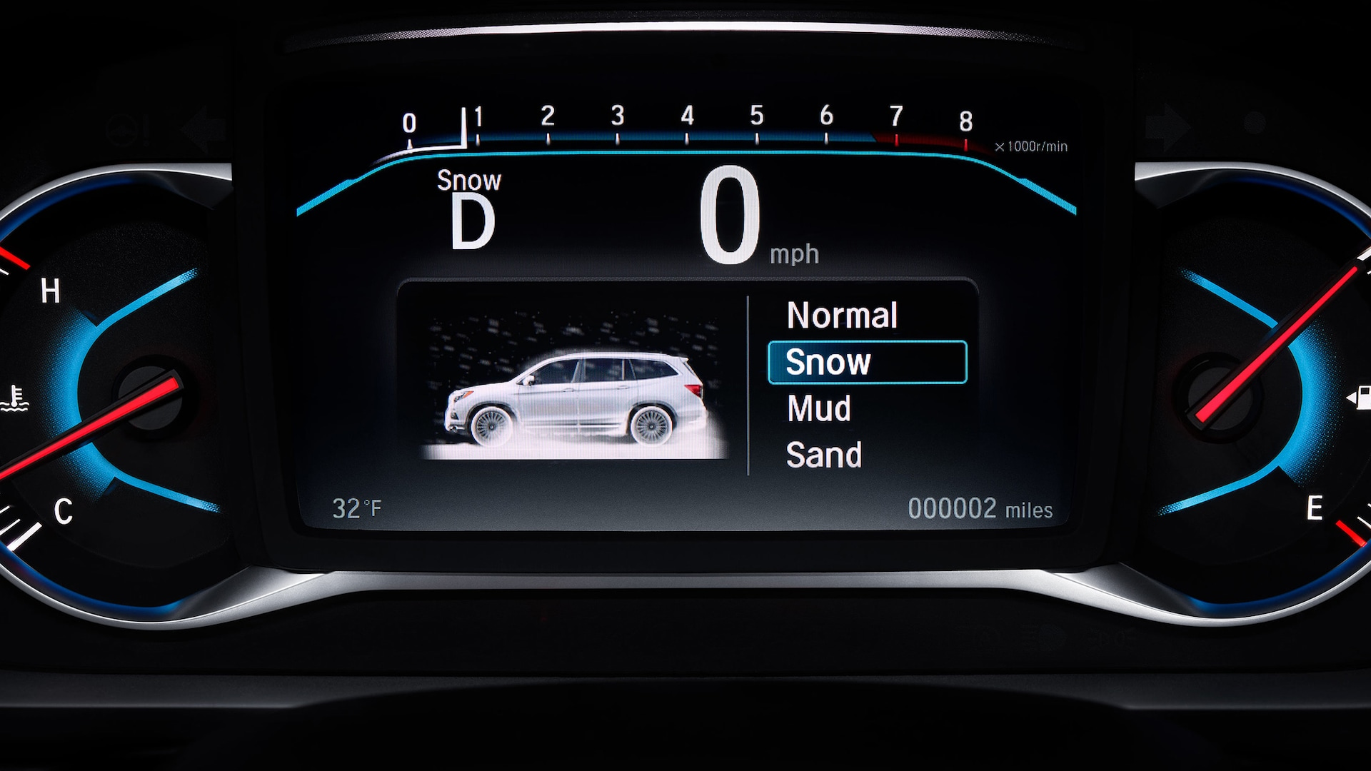 Honda Intelligent Traction Management System Displayed in a 2021 Pilot