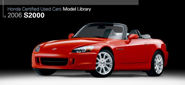 2009 used honda s2000 performance honda certified used for Honda used certified
