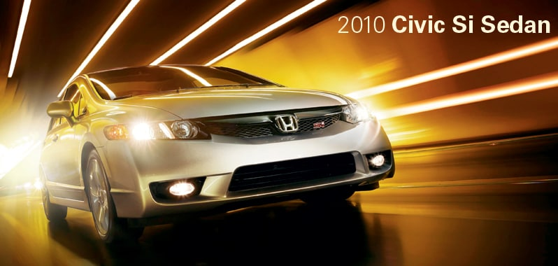 2010 Honda Civic Si Sedan - Honda Certified Used Cars