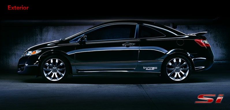 Civic Si Coupe shown in Crystal Black Pearl.