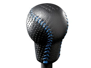 LEATHER SHIFT KNOB (M/T) (part number:)