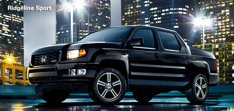 """... 18"""" alloy wheels, the Ridgeline Sport fits in just about anywhere"""