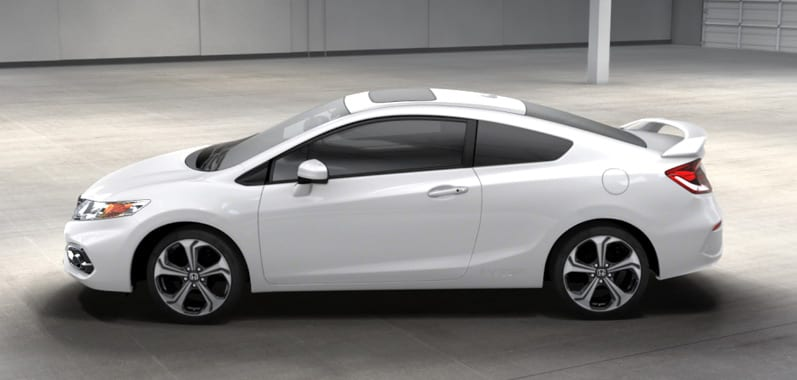 honda civic  coupe exterior features official site