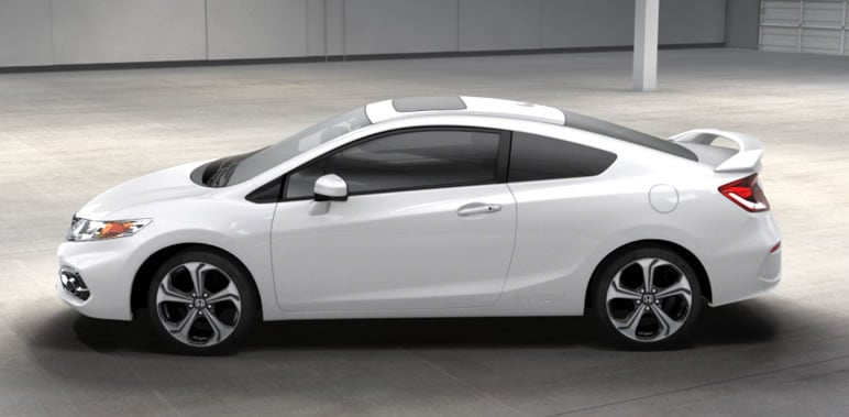 Honda Civic Si 2013 White Coupe