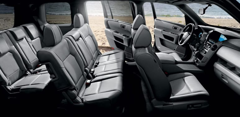 Pilot 4WD Touring shown with Gray Leather.