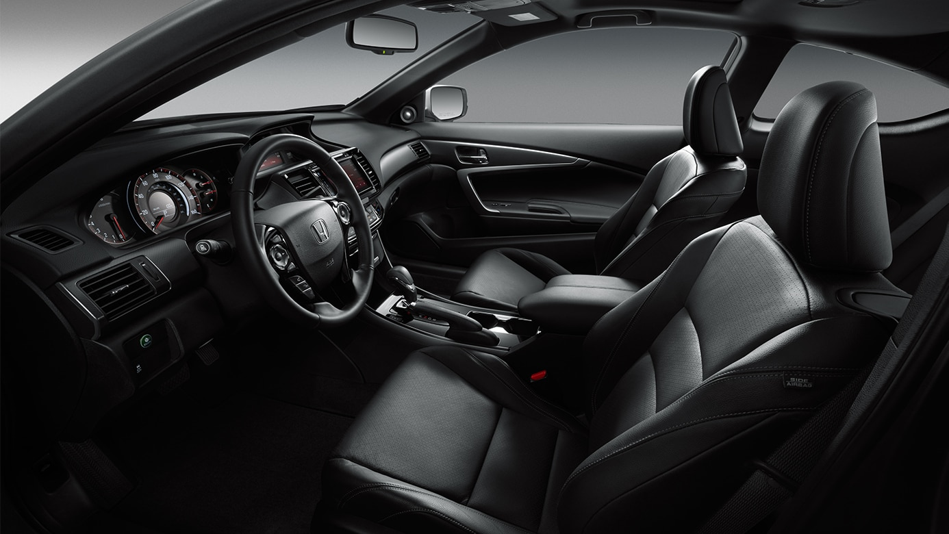 The interior of the Accord Coupe features our most luxurious touches ...