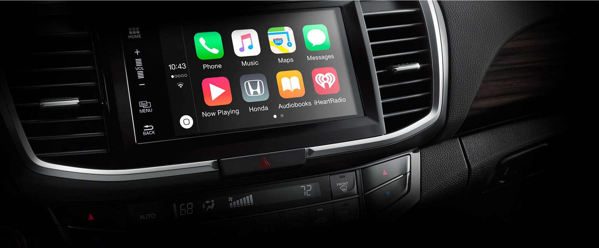 2016 honda accord sedan features details official site for Honda apple play