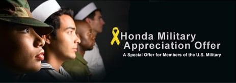Honda Military Appreciation Offer | A Special Offer for Members of the U.S. Military